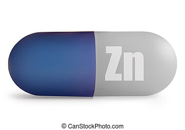 Zinc - Close up of immunity enhancing zinc mineral...
