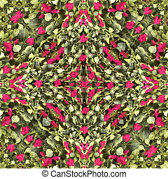 Nature Collate Seamless Pattern - Collage style digital art...