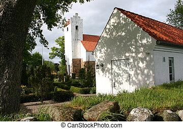 danish church - church in denmark in scandinavia. typical...