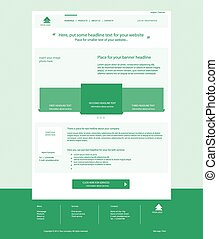 Website light green template layout with text