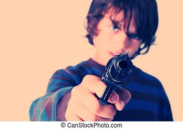 child with gun crime