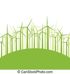 Wind generator turbine clean energy concept vector...