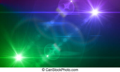 blue and purple light twin lens flare