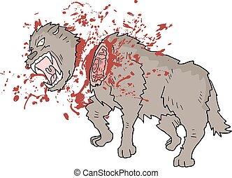 kill danger wolf illustration