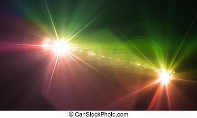 Camera flash double flare green and yellow - Flash light &...