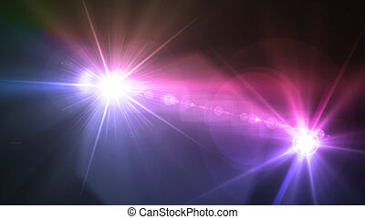 Camera flash double flare magenta color