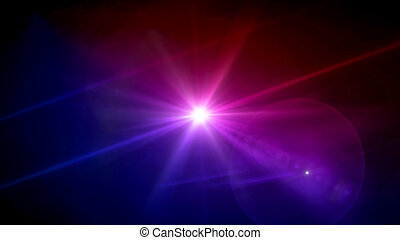 magenta and purple color star lens flare
