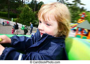 child ride theme park amusement