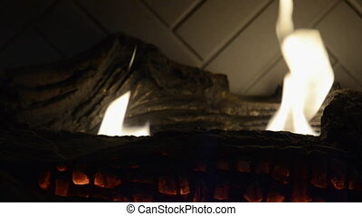 Fireplace Loop Still - A still shot of a fire place with...