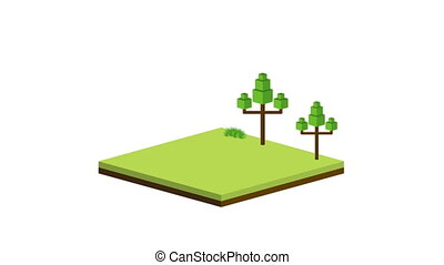 Isometric Video animation - isometric building Video...