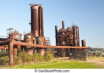 Gasworks Park - Gas Works Park in Seattle, Washington is...