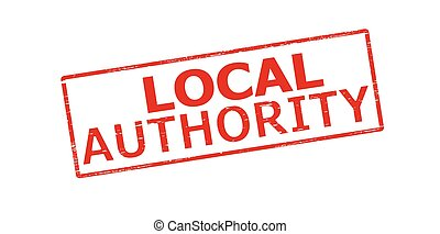 Local authority - Rubber stamp with text local authority...
