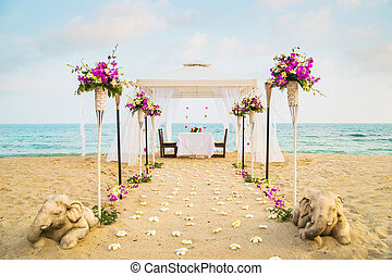 Beautiful place for romantic dinner on the beach Samui...