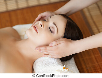 Young, beautiful and healthy woman in spa salon Traditional...