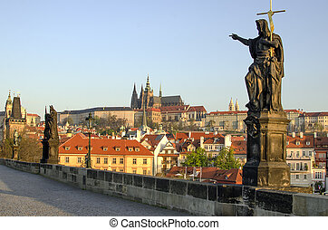 Charles Karluv Bridge in Prague - Prague Czech Republic...