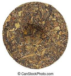 Jingmai Gu Shu Huang Pian Raw Puerh tea in round shape...