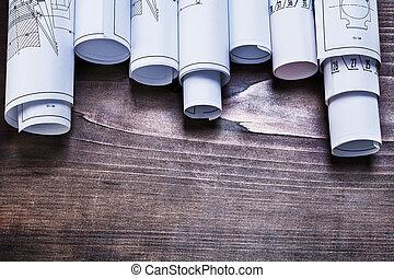 planes, de madera, vendimia, pino, construcción, pila,...
