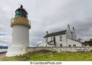 Lighthouse at Corran - Lighthouse at Coran with clouds and...