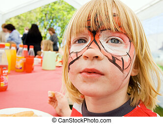 face paint child birthday party