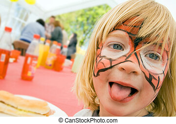 face paint child birthday party - face paint on child at...