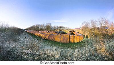 pipeline winter frost