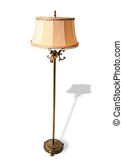 standard lamp isolated retro - lamp isolated on white old...