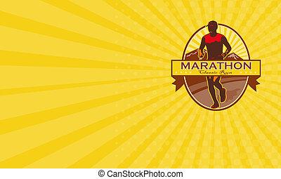 Business card Marathon Classic Run Retro