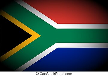 South Africa flag icon - isolated illustration vignetted