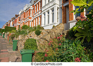 victorian terrace houses - terrace houses in England....