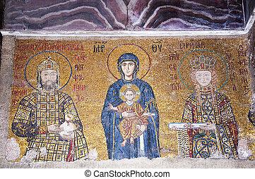 emperatriz, Zoe, mosaicos,