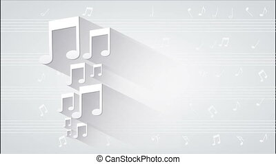 Music notes animation - White Music Notes Video animation,...