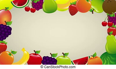 Fruits animation - fruits colors Video animation, HD 1080