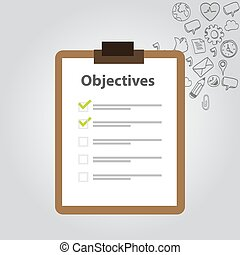 objective board goal check list