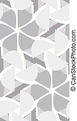 Gray Seamless Pattern of Flower Shapes