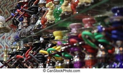 Hookah in souvenir shop in Turkey - Hookah in souvenir shop...