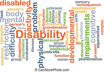 Disability background concept