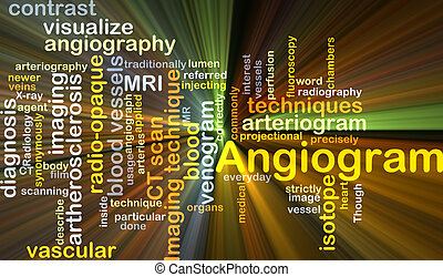 Angiogram background concept glowing - Background concept...