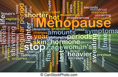 Menopause background concept glowing