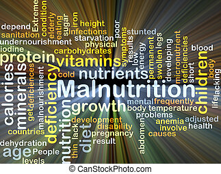 Malnutrition background concept glowing - Background concept...