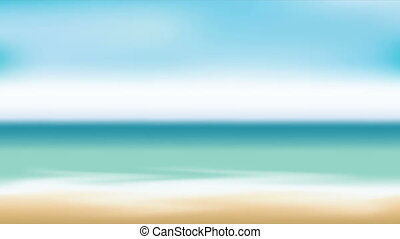 beach animation - blurred beach landcape, Video animation,...