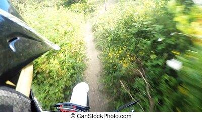 Enduro bike rider POV