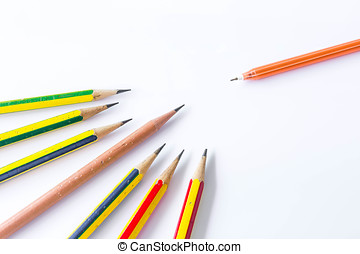 Pencils concep isolated on white