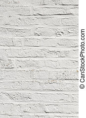 white harmonic brick wall of an ancient house
