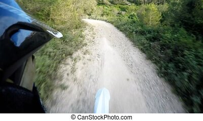 Enduro bike rider POV - Enduro riding POV on mountain trails...