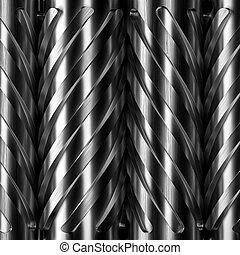 Helical gears. - 3d rendering steel helical gears...