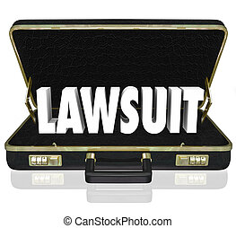 Lawsuit Briefcase Legal Court Case 3d Words - Lawsuit 3d...