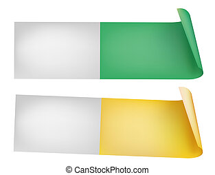 PH Test Strips - illustrations drawing of two PH Test Strips...