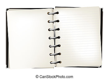notebook - drawing of notebook in a white background