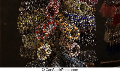 selling jewelry bracelets with Nazar amulet on the market in...