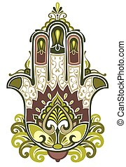 Hamsa symbol - Hamsa illustration